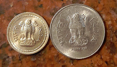 Lot Of (2) Coins From India  -  F173