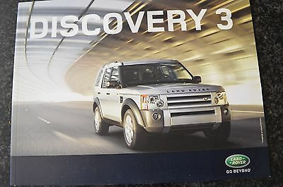 Brochure Catalogue Voiture LAND ROVER DISCOVERY  Gamme 2008 + Tarifs Auto Cars °