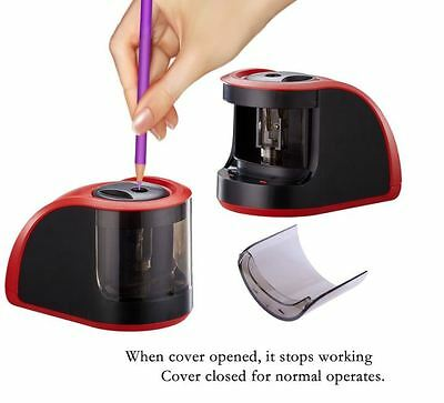 Best Electric Pencil Sharpener Kids Battery Operated Quiet Fast Office School