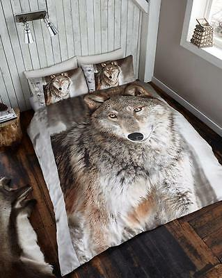 X Large Winter 2 x 2.4 Meter Queen Size Plush Mink Blanket - Wolf