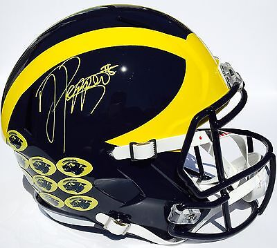JABRILL PEPPERS #5 SIGNED MICHIGAN WOLVERINES F/S FOOTBALL HELMET w/COA GO BLUE!