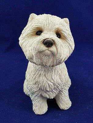 Gorgeous White Highland Terrier Figurine Made By Sandcast