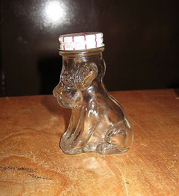 Vintage Greenville Ohio House of Lowell 2 oz Dog Puppy Glass Container Candy??