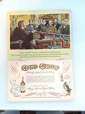 Old Crow Whiskey Magazine Ad - Court Decision