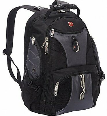 SwissGear Travel Gear ScanSmart Backpack 1900 (Black/Grey EXCLUSIVE COLOR)