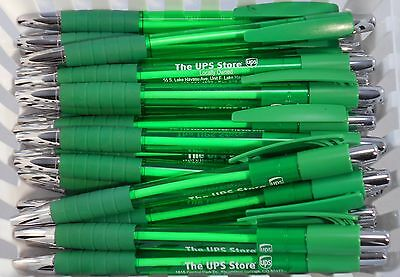 12 New Misprint Ballpoint Retractable Ink Pens, Dark Green (Black Ink)