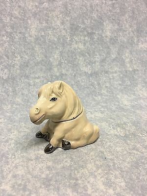 Vtg Face Pots by Kevin Francis Horse MISTY England Off white tan Trinket box