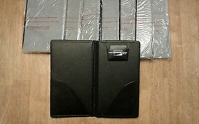 New Lot Of 8 Double Panel Check Presenter Discover Credit Card Restaurant Bill