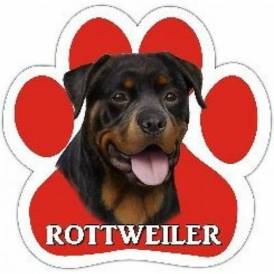 Rottweiler Dog Breed Paw Print Magnet (UV Coated)