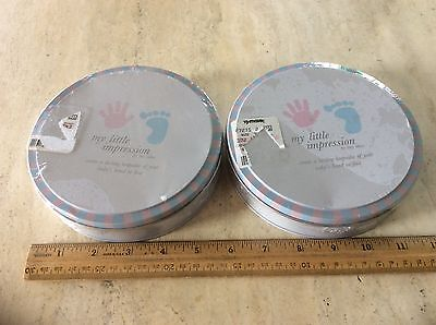2 New My Little Impression Baby's Hand Foot Clay Mold Tiny Ideas