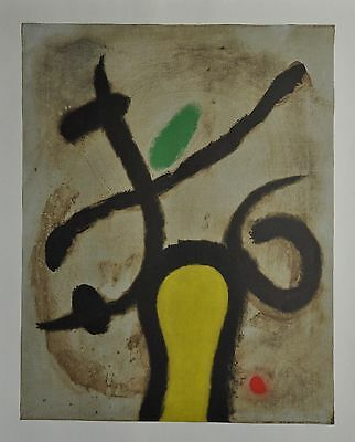 Joan Miró Ltd. Ed. Signed Lithograph 45x56 Femme Assise I/V Maeght Editeur 1965