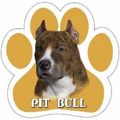 Pit Bull Terrier Dog Breed Paw Print Magnet (UV Coated)