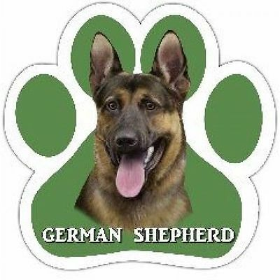 German Shepherd Dog Breed Paw Print Magnet (UV Coated)