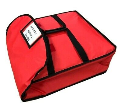 "Heavy Duty Pizza Delivery Bag Size 20""x20""x7""Inch Full Insulated Keep Pizza Warm"