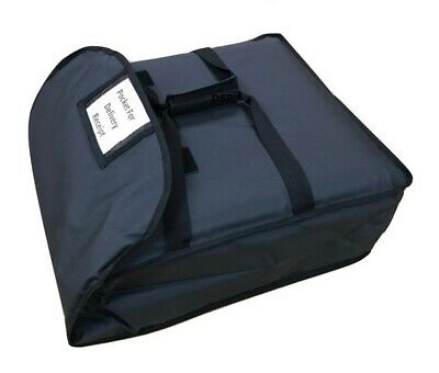 "Hot Food Delivery Bag Size:14""x12""x10"" for Kebab Indian Chinese Pizza Delivery"