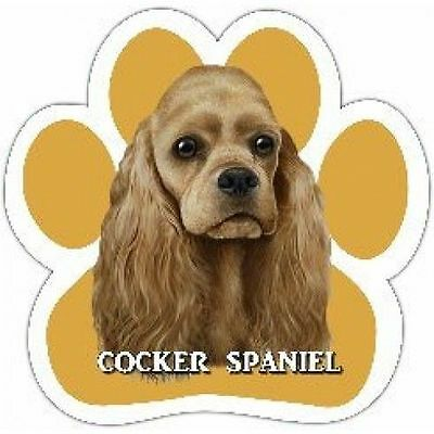 Cocker Spaniel Buff Dog Breed Paw Print Magnet (UV Coated)