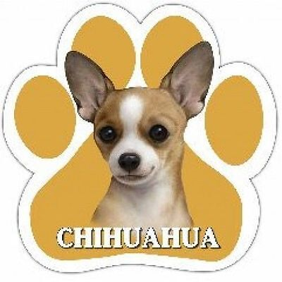 Chihuahua Fawn Smooth Coat Dog Breed Paw Print Magnet (UV Coated)