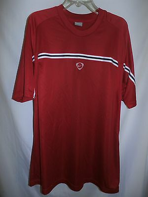 NIKE  Men's Size XL Red Shirt Top Sport Athletic Lightweight Short Sleeve Fit