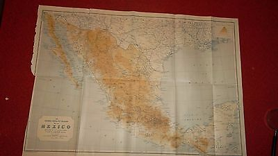 MAP OF MEXICO  -  24 X 17 In.  -  National Geographic