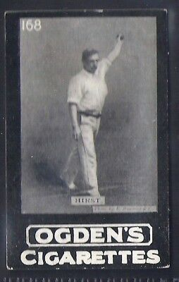 Ogdens Tabs-Series D Cricket Card-#d168- Yorkshire - Hirst
