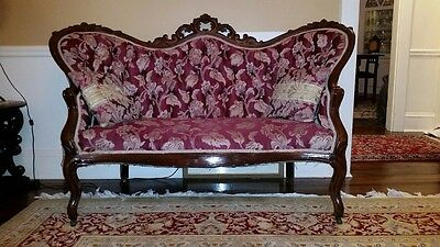 Antique Carved Victorian Loveseat