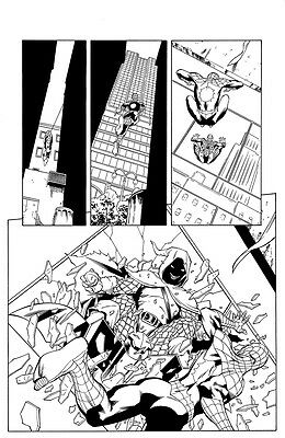 THE AVENGING SPIDER-MAN #22, pg. 14 - Hobgoblin half splash. Lopez & Owens art!