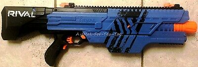 NERF Rival Khaos MXVI-4000 Blue BLASTER GUN ONLY Fully Tested Near Mint NRMT