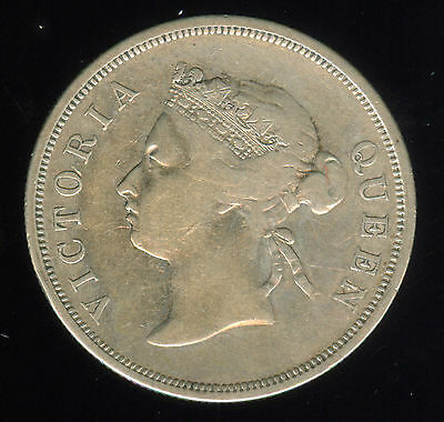 1888 Straits Settlements Silver 50 Cents