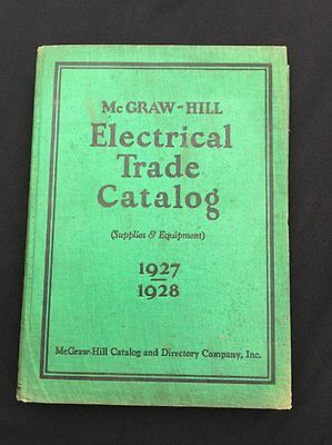 1927 / 1928 Electrical Trade Catalog McGraw Hill Book