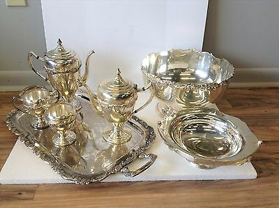 Antique Silver Plate Mixed Lot. / 15.0 Pounds /