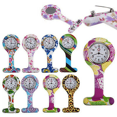 Fashion Silicone Nurses Brooch Tunic Fob Pocket Watch Stainless Dial Kawaii