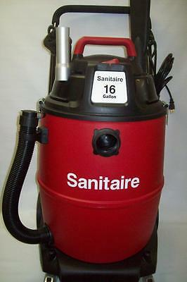 Wet Dry Shop Type Vac Sanitaire Industrial 16 Gal Vacuum on Wheels SC6065A New