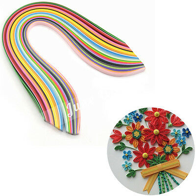 360 Strips Mixed Colours Quilling Paper 10mm Origami Papercraft DIY Craft Tool