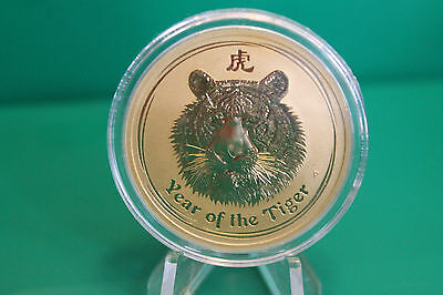 2010 Australia 1 oz Gold (.9999) Lunar Tiger BU (Series II) - imperfections