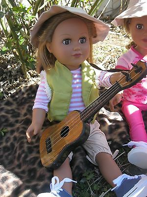 Camping Accessories *GUITAR* for 18 inch Doll or American Girl Doll**NEW**
