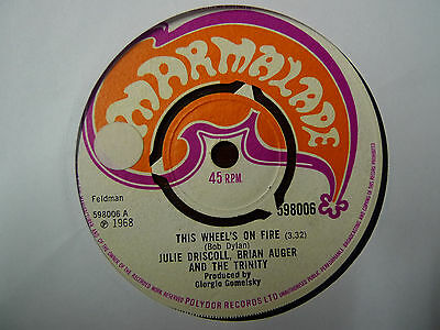 Julie Driscoll , Brian Auger & The Trinity - This Wheels On Fire Marmalade 68 Ex