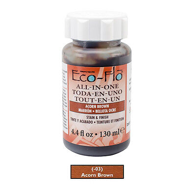 Eco-Flo All-In-One Stain & Finish for Leather - Acorn Brown x 4oz