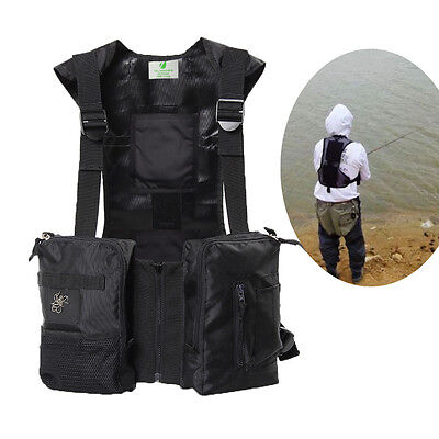 Ice-hi Fishing Vest Can Be Equipped  Warm Paste & Cooling Ice Pack Insulation