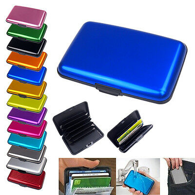 New Aluminum Durable Business Id Credit Card Holder Wallet Pocket Case Anti Rfid