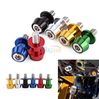 Universal Motorcycle CNC Swingarm Swing Arm Spools Sliders Stand Bobbins 8/10 mm