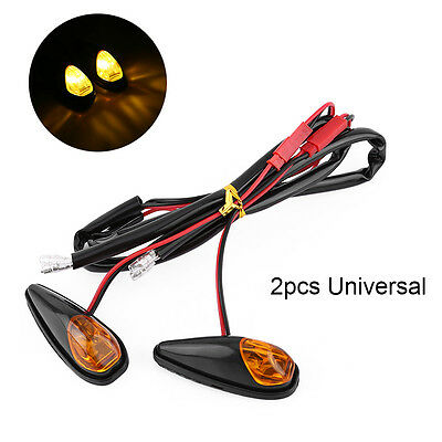 Motorcycle Bike Flush Mount Turn Signal Indicator Light Amber Durable Universal
