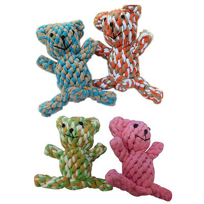 Pet Puppy Dog Rope Chew Toys for Small Medium Dogs Teeth Cleaning - Cute Bear