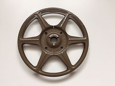 Single Metal Super 8 Film Reel - 200 Feet / Harwood / Brown