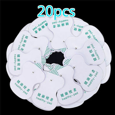 20X Electrode Pads For Tens Acupuncture Digital Therapy Machine Massager BBUS