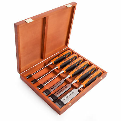 Bahco 424P-S6 Bevel Edge Chisels Set (6) in Wooden Box