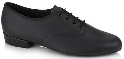 Black leather oxford Freed MLB ballroom/latin dance shoes - size UK 8