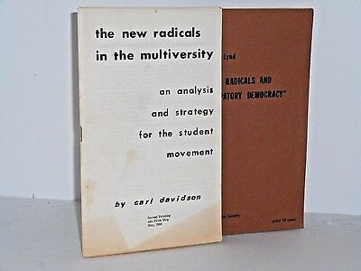 2 SDS pamphlets. The new radicals in the multiversity and The new radicals 1968