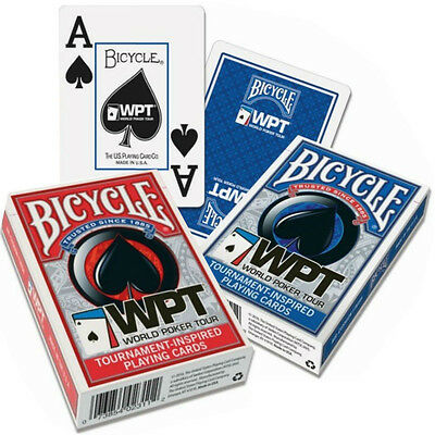 2 mazzi carte Bicycle World Poker Tour - WPT Jumbo Index (Blu/Rosso)