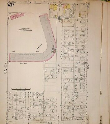 1953 Sanborn, Wrigley Field, Los Angeles Baseball Stadium, Copy Atlas Plat Map