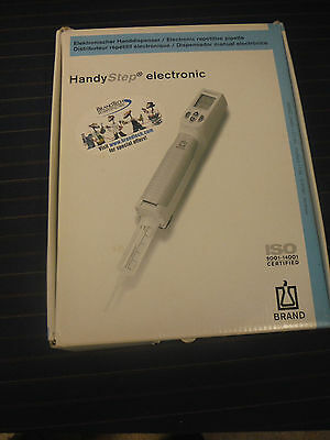 BrandTech 705012 HandyStep Electronic Repeating Pipette, 110V In Box
